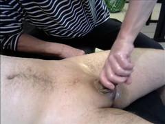 70 years oldman with oriental dick masturbation oil massage
