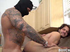 Lad dante drackis dominated by super hung intruder
