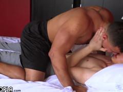 Lost anal virginity!! flip fuck between 2 sexy men.