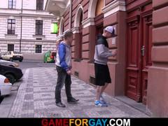 Gay slut teenager seduces hetero taxi driver