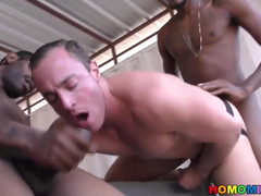 Two black guys buying a car and fucking its white owner  scene 2