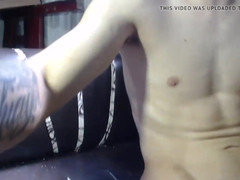 Thin spanish twink austin shoots a lovely load