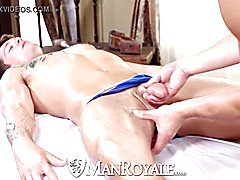 Hd - manroyale hardcore massage and bum drilling for two hunks