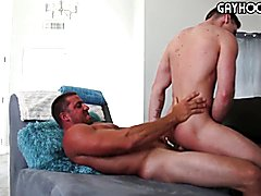 Sexy af straight married jock fucks gay young