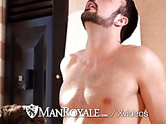 Manroyale couple fuck in the hotel room after workout