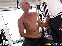Interracial gay sex after workout  scene 2