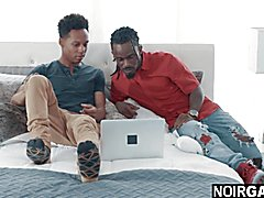 Coalblack step brother caught watching gay porn