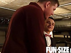 Funsizeboys - petite twink in suit stripped nude and
