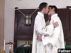 This singular moment is between the priest, the twink, and god
