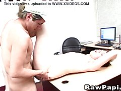 Hardcore gay anal banging inside the office