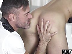 Papa punishes his step[ son's virgin ass hole with his chubby boner - collin desire, manuel skye