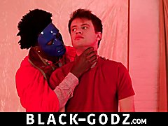 White backside explored and drilled by chocolate pecker interracial gay sex chocolate-godz.com