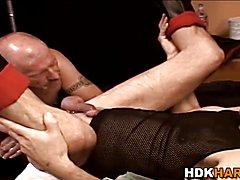 Gay hunks backside stretched