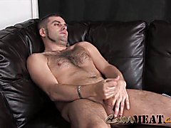 Spunk meat bear molest his large prick for sperm