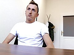 Aroused agent butt fucks straight dude sloppy scout
