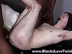Ebony penis loving boy gets cumshots