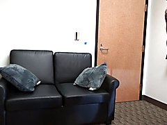 Wank shows off his piercing at casting couch