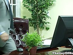 Gaysex office hunk squirted with cum  scene 2