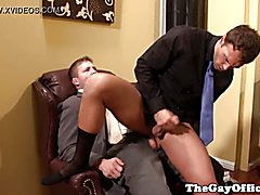 Office sex with strong boss colby jansen