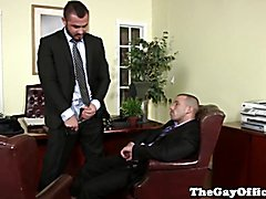 Uniformed gay office hunk pounding ass  scene 2