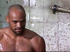 Muscle Bears Fuck and  Suck in Outdoor Shower