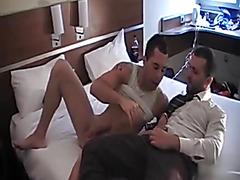 Big cock bareback hotel fuck