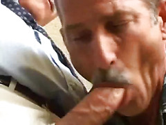 They meet in the bathroom but the daddies head to the hotel room to get it on. Once there th...