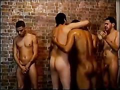 Latino circle jerk with sucking