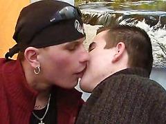 Gay facial after bedroom fuck