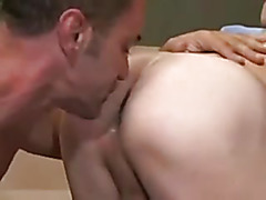 The horny boy and the big cock daddy make love today