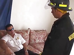Horny firemen and anal sex