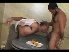 Both guys are hairy and so hot, including the chubby