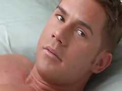 Shaved asshole fucked by hunk