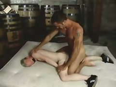 Monsterhung dad barebacks bound slave