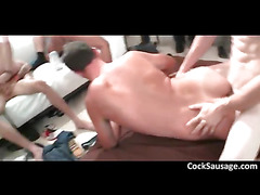 The gay orgy sizzles with pleasure as the group of hot
