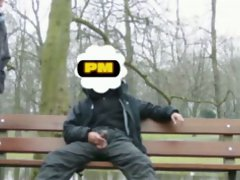 PM public park bench flash - was to cold to get a hard