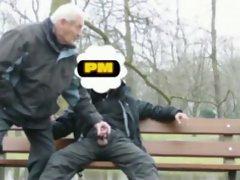 PM public park bench flash