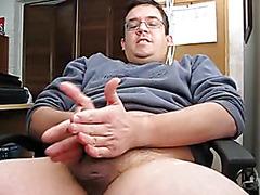 Home office homemade masturbation