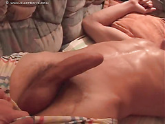 The dude on his back is wicked hot with a perfect body