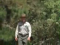 Forest Ranger walks in on two young guys jacking off