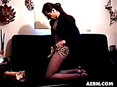 Shemale Vanessa, jacking off and giving us good pantyhose shows!  Shemale, crossdresser, tra...