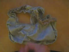 Jerking off using a pair of used panties I found in my