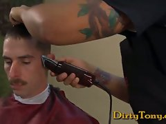 There is nothing sexier than watching a military man getting a high and tight. Private Dusty...