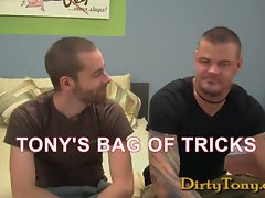 Seth Fisher and newcomer to my playroom, super buff and tattooed top, Derrick Hanson, meet u...
