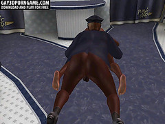Hot ebony 3D asseating and anal in the mile high club